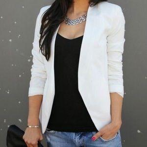 White open blazer